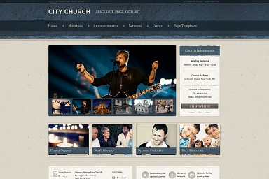 Ezekiel WordPress Theme - Blue Color Scheme (Medium Screenshot)