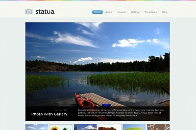 Statua WordPress Theme - Blue Color Scheme (Medium Screenshot)