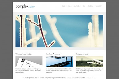 Complex WordPress Theme - White Color Scheme (Medium Screenshot)