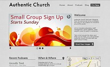 Authentic Church WordPress Theme from Organized Themes