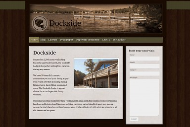 Dockside WordPress Theme - Brown Color Scheme (Medium Screenshot)