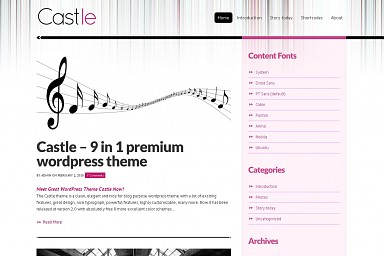 Castle WordPress Theme
