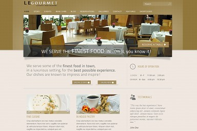 Le Gourmet WordPress Theme