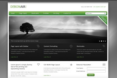 Debonair WordPress Theme
