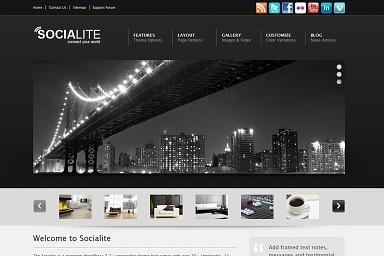 Socialite WordPress Theme