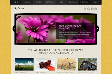 Relaxa WordPress Theme - Yellow Color Scheme (Medium Screenshot)