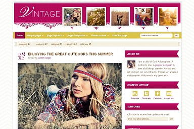 Vintage WordPress Theme - Gold Color Scheme (Medium Screenshot)