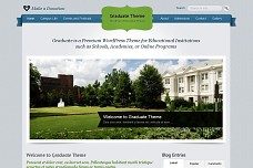 Graduate School/Education WordPress Theme from Gabfire Themes