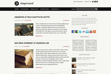 Ampersand WordPress Theme - Gray Color Scheme (Medium Screenshot)