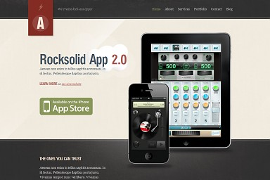 Rocksolid WordPress Theme - Gray Color Scheme (Medium Screenshot)