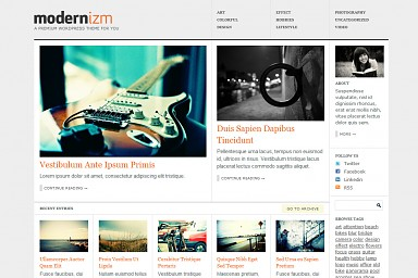 Modernizm WordPress Theme - Gray Color Scheme (Medium Screenshot)
