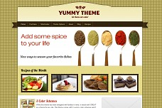 Yummy WordPress Theme from Diva Themes