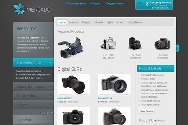 Mercado WordPress Theme - Gray/Blue Color Scheme (Medium Screenshot)