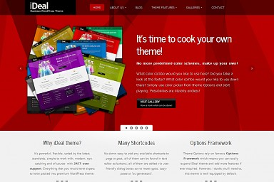iDeal WordPress Theme - Red Color Scheme (Medium Screenshot)