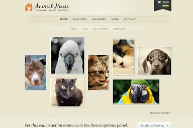 Animal House WordPress Theme