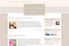 Khaki WordPress Theme from Foundation Framework
