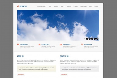 Elementary WordPress Theme - Gray/White Color Scheme (Medium Screenshot)