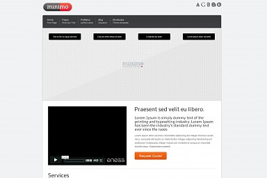 Minimo WordPress Theme - White Color Scheme (Medium Screenshot)