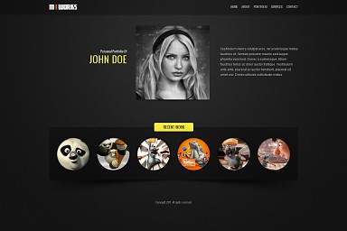 MIWORKS WordPress Theme - Black Color Scheme (Medium Screenshot)