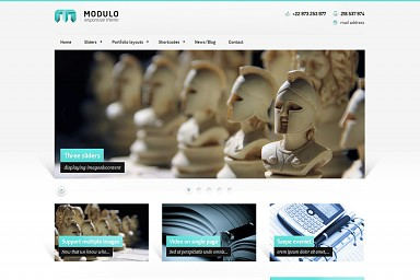 Modulo WordPress Theme - Teal/Gray Color Scheme (Medium Screenshot)