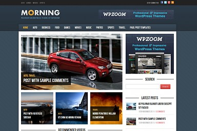 Morning WordPress Theme - Blue Color Scheme (Medium Screenshot)