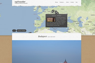 wpTraveller WordPress Theme - Brown Color Scheme (Medium Screenshot)