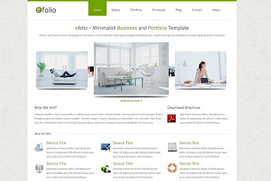 efolio WordPress Theme - White Color Scheme (Medium Screenshot)