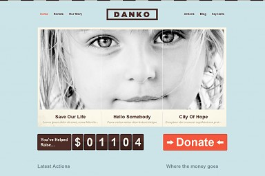 Danko WordPress Theme - Light Blue Color Scheme (Medium Screenshot)