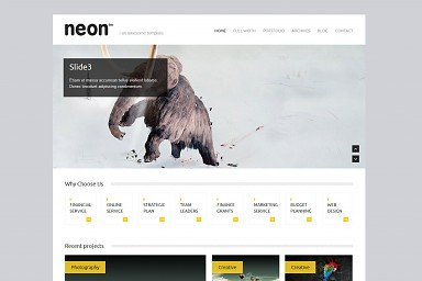 Neon WordPress Theme