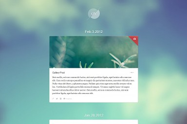 Quicknotes WordPress Theme - Blue/Green Color Scheme (Medium Screenshot)