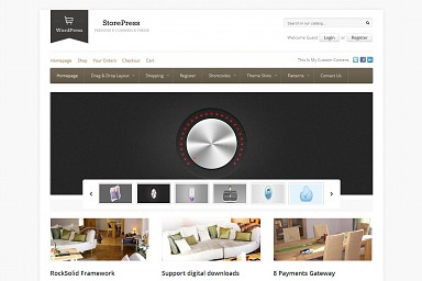 StorePress WordPress Theme - White/Gray Color Scheme (Medium Screenshot)