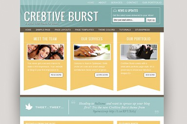 Cre8tive Burst WordPress Theme