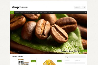 Shop WordPress Theme - White with Green Color Scheme (Medium Screenshot)