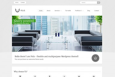 Felis WordPress Theme - Gray/White Color Scheme (Medium Screenshot)