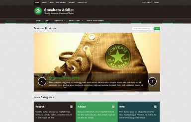 Sneakers Addict WordPress Theme - Green & Gray Color Scheme (Medium Screenshot)