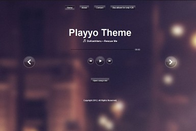 Playyo WordPress Theme - Purple Color Scheme (Medium Screenshot)