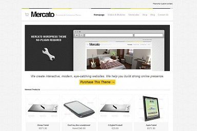 Mercato WordPress Theme - White / Gray Color Scheme (Medium Screenshot)