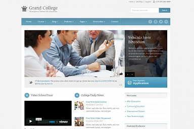 Grand College WordPress Theme - Blue & Gray Color Scheme (Medium Screenshot)