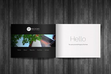 Precision WordPress Theme - Black Color Scheme (Medium Screenshot)