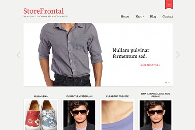 StoreFrontal WordPress Theme - Gray Color Scheme (Medium Screenshot)