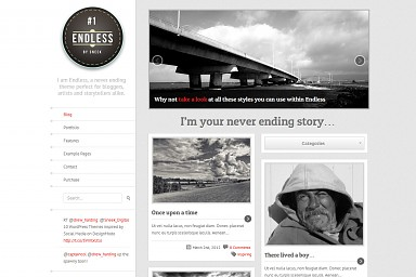 Endless WordPress Theme - Gray Color Scheme (Medium Screenshot)