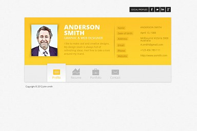 Zwin WordPress Theme - Yellow/Gray Color Scheme (Medium Screenshot)