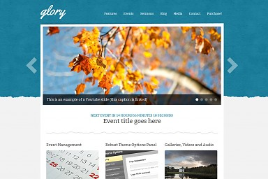 Glory WordPress Theme - Blue Color Scheme (Medium Screenshot)