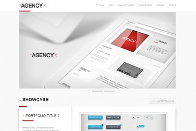 Agency X WordPress Theme - White Color Scheme (Medium Screenshot)
