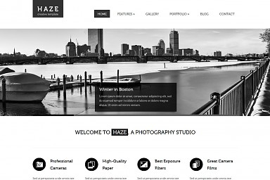 Haze WordPress Theme - White Color Scheme (Medium Screenshot)