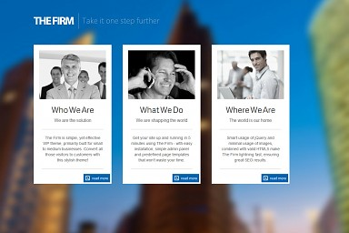 The Firm WordPress Theme - White Color Scheme (Medium Screenshot)