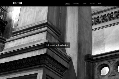 Direction WordPress Theme - Black Color Scheme (Medium Screenshot)