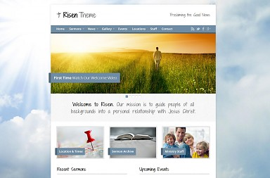 Risen WordPress Theme - Blue Sky Color Scheme (Medium Screenshot)