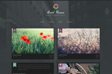 Avid WordPress Theme - Dark Color Scheme (Medium Screenshot)